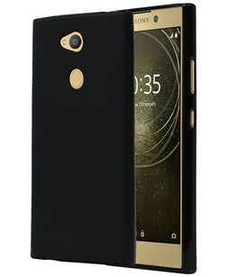 Zwart TPU back case cover Hoesje voor Sony Xperia L2