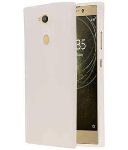 Wit TPU back case cover Hoesje voor Sony Xperia L2