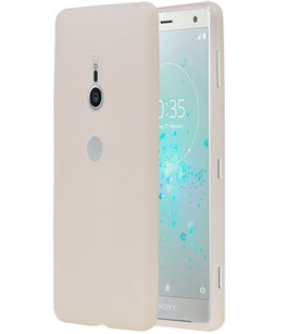 Wit TPU back case cover Hoesje voor Sony Xperia XZ2