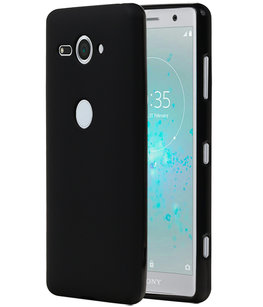 Zwart TPU back case cover Hoesje voor Sony Xperia XZ2 Compact