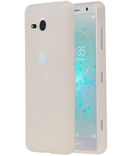Wit TPU back case cover Hoesje voor Sony Xperia XZ2 Compact