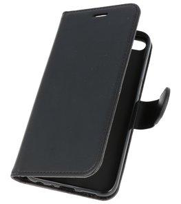 Zwart Wallet Case Hoesje voor Huawei Honor 9 Lite