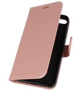Roze Wallet Case Hoesje voor Huawei Honor 9 Lite