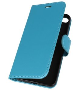 Turquoise Wallet Case Hoesje voor Huawei Honor 9 Lite
