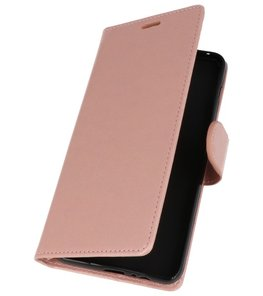 Roze Wallet Case Hoesje voor Samsung Galaxy A8 Plus 2018