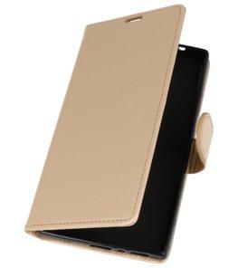 Goud Wallet Case Hoesje voor Sony Xperia L2