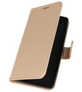 Goud Wallet Case Hoesje voor Sony Xperia XZ2