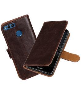 Mocca Pull-Up Wallet Case Hoesje voor Huawei P Smart