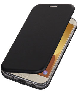 Zwart Premium Folio Wallet Hoesje voor Samsung Galaxy J5 2017