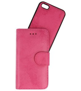 Roze 2 in 1 Wallet Case Hoesje voor Apple iPhone 5s