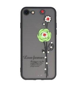 Groen Love Forever back case Hoesje voor Apple iPhone 7 / 8