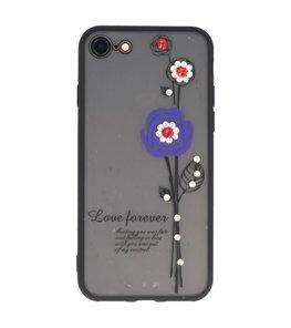 Paars Love Forever back case Hoesje voor Apple iPhone 7 / 8