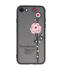 Roze Love Forever back case Hoesje voor Apple iPhone 7 / 8