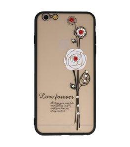 Wit Love Forever back case Hoesje voor Apple iPhone 6 Plus / 6s Plus