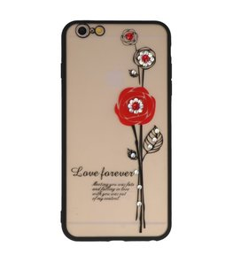 Rood Love Forever back case Hoesje voor Apple iPhone 6 Plus / 6s Plus