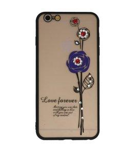 Paars Love Forever back case Hoesje voor Apple iPhone 6 Plus / 6s Plus