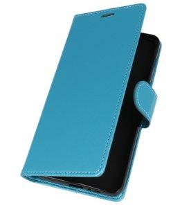 Turquoise Wallet Case Hoesje voor Motorola Moto G6