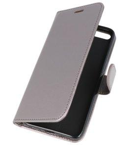 Grijs Wallet Case Hoesje voor Huawei Honor 10