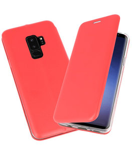 Rood Premium Folio Hoesje voor Samsung Galaxy S9 Plus