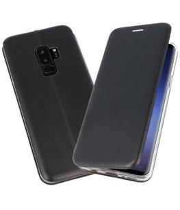 Zwart Premium Folio Hoesje voor Samsung Galaxy S9 Plus