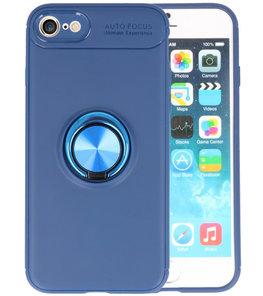 Navy Zacht TPU met Ringhouder hoesje voor Apple iPhone 7 / 8