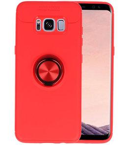 Rood Zacht TPU met Ringhouder hoesje voor Samsung Galaxy S9