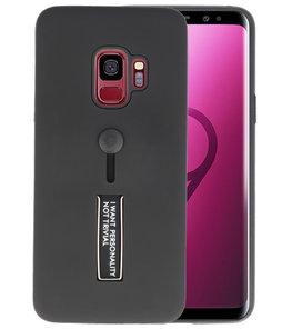 Zwart Stand Case hoesje voor Samsung Galaxy S9