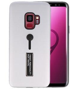 Zilver Stand Case hoesje voor Samsung Galaxy S9