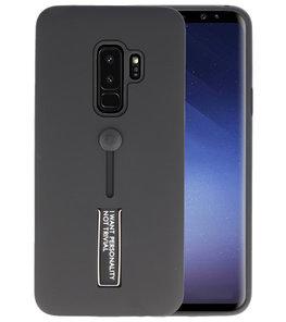 Zwart Stand Case hoesje voor Samsung Galaxy S9 Plus