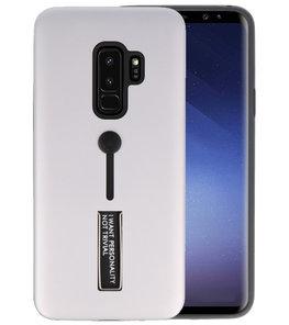 Zilver Stand Case hoesje voor Samsung Galaxy S9 Plus