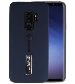 Navy Stand Case hoesje voor Samsung Galaxy S9 Plus