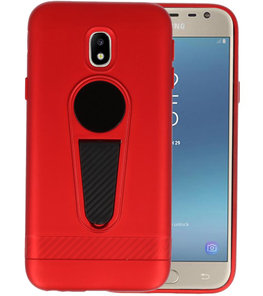 Rood Magneet Stand Case hoesje voor Samsung Galaxy J3 2017