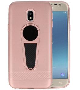 Roze Magneet Stand Case hoesje voor Samsung Galaxy J3 2017