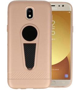 Goud Magneet Stand Case hoesje voor Samsung Galaxy J5 2017