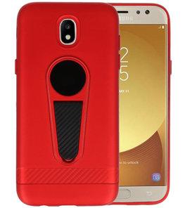 Rood Magneet Stand Case hoesje voor Samsung Galaxy J5 2017