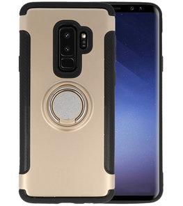 Goud Pantser TPU met Ringhouder hoesje voor Samsung Galaxy S9 Plus