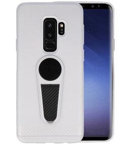 Zilver Magneet Stand Case hoesje voor Samsung Galaxy S9 Plus