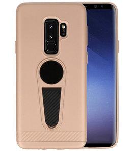 Goud Magneet Stand Case hoesje voor Samsung Galaxy S9 Plus