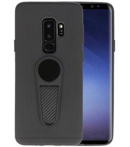Zwart Magneet Stand Case hoesje voor Samsung Galaxy S9 Plus
