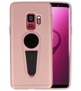 Roze Magneet Stand Case hoesje voor Samsung Galaxy S9