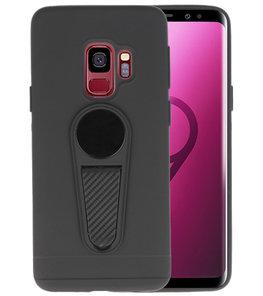 Zwart Magneet Stand Case hoesje voor Samsung Galaxy S9