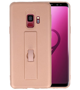 Roze Carbon serie Zacht Case hoesje voor Samsung Galaxy S9
