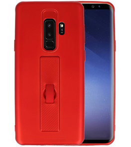 Rood Carbon serie Zacht Case hoesje voor Samsung Galaxy S9 Plus