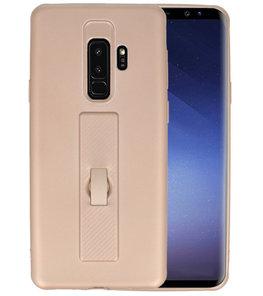 Goud Carbon serie Zacht Case hoesje voor Samsung Galaxy S9 Plus