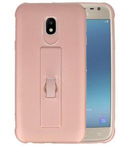 Roze Carbon serie Zacht Case hoesje voor Samsung Galaxy J3 2017