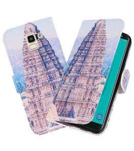 Tempel 1 booktype wallet case Hoesje voor Samsung Galaxy J8