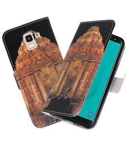 Tempel 2 booktype wallet case Hoesje voor Samsung Galaxy J8