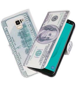 Dollar booktype wallet case Hoesje voor Samsung Galaxy J8