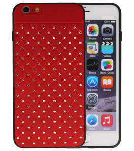 Rood Diamand Geweven hard case hoesje voor Apple iPhone 6 Plus / 6s Plus