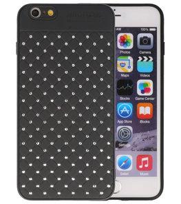 Zwart Diamand Geweven hard case hoesje voor Apple iPhone 6 Plus / 6s Plus